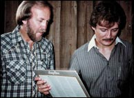 Doyle Lawson and Tony Rice, 1981. Photo credit: from doylelawson.com. Click to enlarge.
