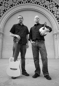 Nate Jarrell, guitar, and Christopher Acquavella, mandolin. Click to enlarge.  Photo credit: Gary Payne.