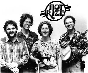 Early Hot Rize. L-R: Charles Sawtelle, Nick Forster, Tim O'Brien, Pete Wernick