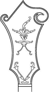 Fern drawing submitted with Trademark #86174550 by Gibson Guitar Corporation