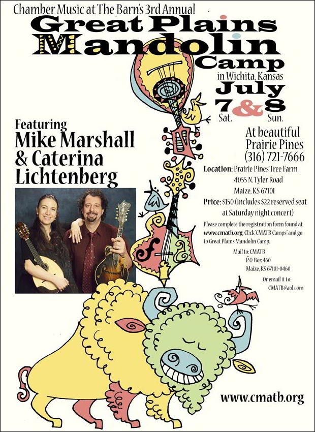 Mike Marshall & Caterina Lichtenberg - 3rd Annual Great Plains Mandolin Camp