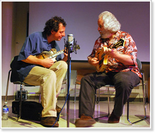 Mike Marshall and David Grisman lead this year's Mandolin Symposium, June 22-26 on the University of California campus in Santa Cruz, California