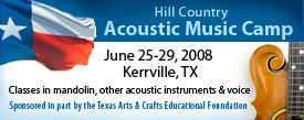 4th Annual Hill Country Acoustic Music Camp