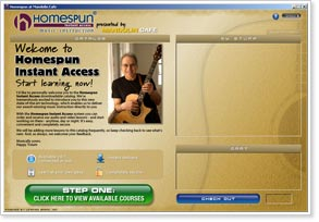 Homespun Instant Access Music Instruction Delivery System