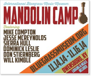 The International Bluegrass Music Museum's 9th annual Mandolin Camp