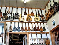 Click image to enlarge - Intermountain carries new and used mandolins, guitars, banjos and ukeleles. Photo credit - Intermountain Guitar and Banjo