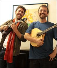 Joseph Brent with Brazilian great Paulo Sá