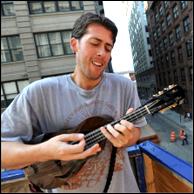 Joe Brent with his Brian N. Dean mandolin.