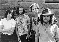 Moonstruck String Band, circa 1979 L-R: Tommy Houston, Fred Gumaer, Paul Glasse and Gerald Jones. Photo credit, Gerald Jones. Click to enlarge.