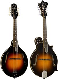 L-R: KM-950 and KM-1050 Kentucky Mandolins