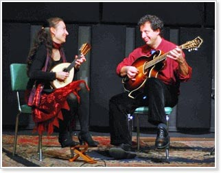 Caterina Lichtenberg and Mike Marshall - March 10, 2012 at the Santa Cruz Baroque Festival