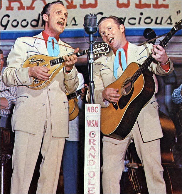 Louvin Brothers on stage at the Grand Ole Opry