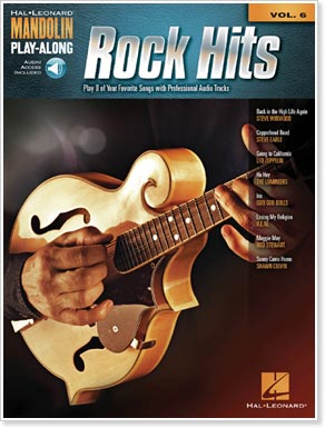 Mandolin Play-Along Volume 6 - Rock Hits, by Hal Leonard Publishers