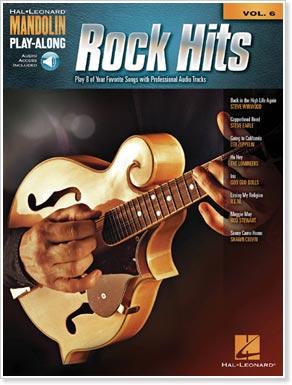Mandolin Play-Along Volume 6 - Rock Hits, by Hal Leonard Publishers