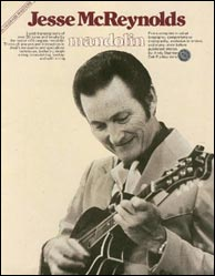 Bluegrass Masters: Jesse McReynolds Mandolin, by Andy Statman. Now out of print, but used (and very expensive) copies are usually available on amazon.com. Click to view availability.