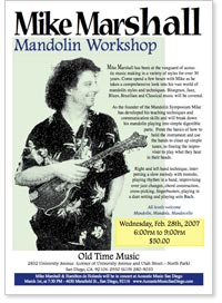 Mike Marshall Mandolin Workshop