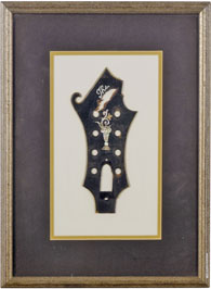 Bill Monroe's original mandolin headstock. Photo credit: Christie's. Click to enlarge