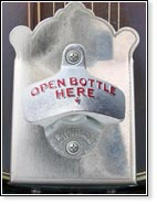 Tailpiece Bottle Opener TM - available in silver and gold on all models