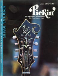 This fern-model F-5 (owned by Fred Severud) was used to describe the features of the fern inlay until the original drawing was found. (The June 1975 issue of <i>Pickin' Magazine</i> featured a story I wrote on Gibson's history and also included a fold-out poster of this F-5 peghead.) Click to enlarge. Reproduction rights reserved.