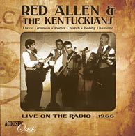 From the soon-to-be-released Acoustic Oasis project Red Allen and The Kentuckians.