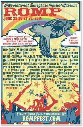 ROMP - International Bluegrass Music Museum Festival, June 25-28, 2014, Owensboro, Kentucky