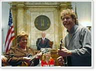 Sam Bush in Senate - photo credit Mike Sunseri, LRC Public Information.