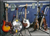 Sam's instruments, circa 2008. Photo credit: Bill Graham. Click to enlarge.
