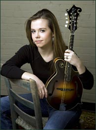 Rounder recording artist Sierra Hull. Photo credit: Sandy Campbell. Click to enlarge.