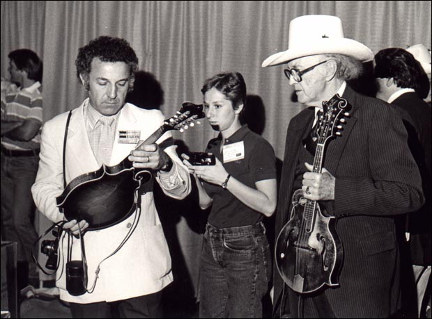 Roger Siminoff and Bill Monroe