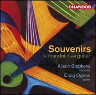 Souvenirs for Mandolin & Guitar - Alison Stephens, mandolin, and Craig Ogden, guitar. All proceeds go to the MacMillan Cancer Support.