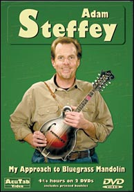 Adam Steffey's My Approach to Bluegrass Mandolin on AcuTab. Click to purchase.