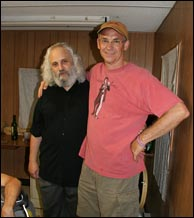 Click to enlarge. David Grisman and Scott Tichenor. Photo by Bill Graham