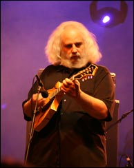 Click to enlarge. David Grisman on stage at the 2008 Wakarusa Festival. Photo by Bill Graham