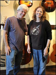Walter and Christie Carter of Carter Vintage Guitars. Photo credit: Darryl Wolfe.