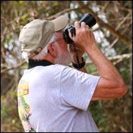 Wayne Helfrich shooting nature photos.