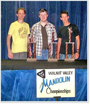 L-R:  Rex Preston from Bath, United Kingdom (3rd Place); Bryan McDowell of Canton, NC (1st  Place), and Josh Bailey of Victoria, TX (2nd Place)